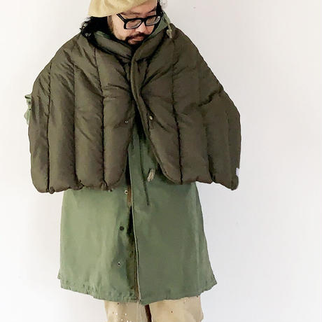 goods*The Loft Labo by NANGA-ザロフトラボ × ナンガ-KONG/QUILTING DOWN CAPE/オリーブ