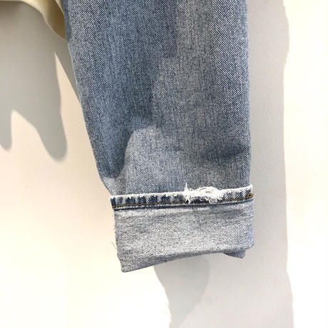 REMAKE Denim Sleeve Short Sweat