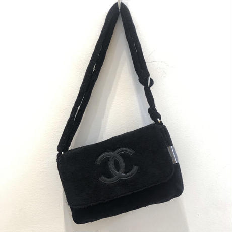 CHANEL NOVERTY PILE BAG/Black&Black(Small logo)