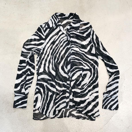 Vintage Zebra Sheer Blouse 1744556