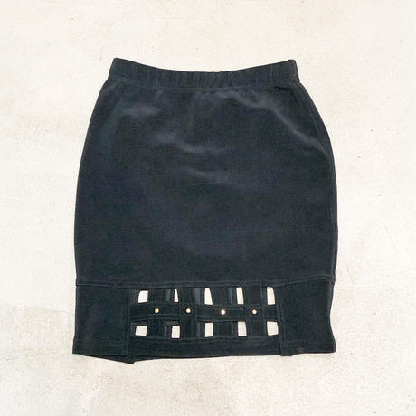Vintage Design Hem Mini Skirt 1743524