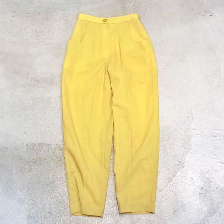 Vintage Yellow High-Waist Tapered Pants 1733513
