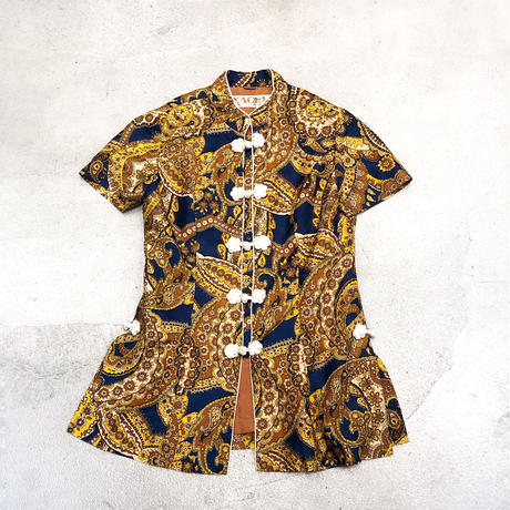 Vintage Paisley textile China Shirt 1728895