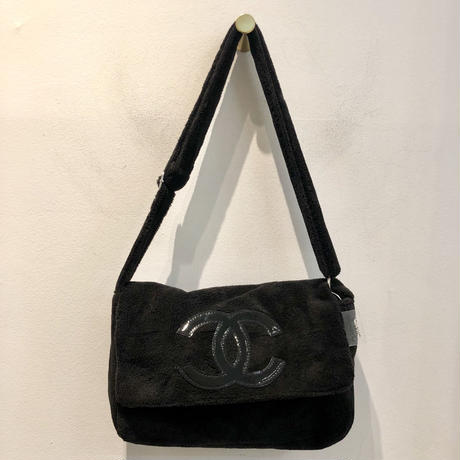 CHANEL NOVERTY PILE BAG/Black&Black(Big logo)