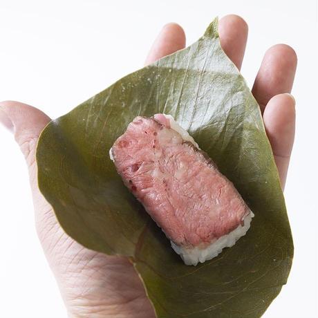 柿の葉肉寿司【きゅうろく鉄板焼屋】