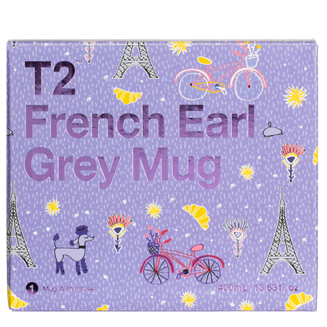 T2 マグ Iconic French Earl Grey Mug with Infuser