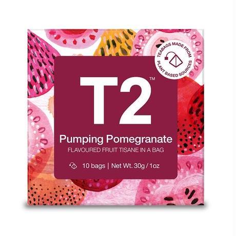 T2 紅茶 Pumping Pomegranate(ザクロティー)ティーバッグ 10個入り