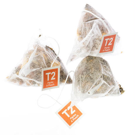 T2 紅茶 Packs A Peach(パックス・ア・ピーチ)ティーバッグ 10個入り