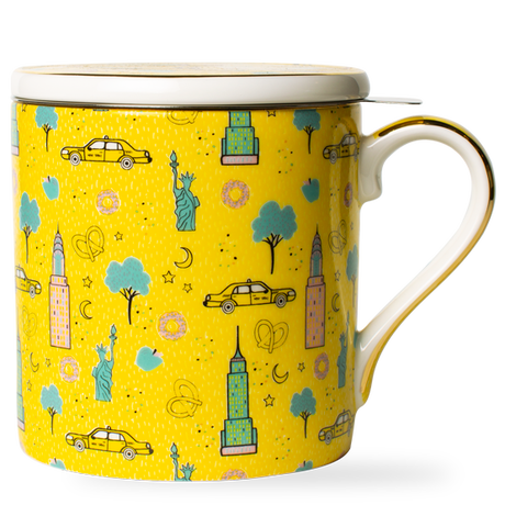 T2 マグ Iconic New York Breakfast Mug with Infuser