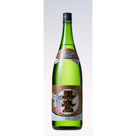 金紋 黒鷹 本醸造 1.8L瓶 (82785)