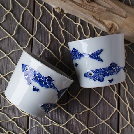 いわしフリーカップ (有田焼)