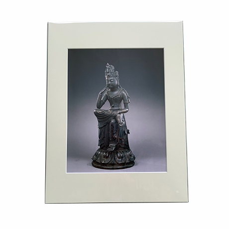 マット付き額絵 菩薩半跏像