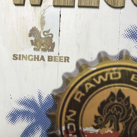 シンハビール木製看板