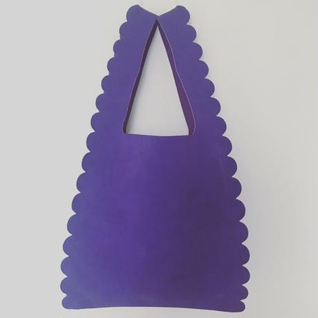 スカラップ  ショッピング バッグ【purple】