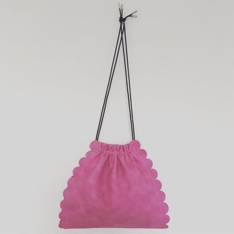 スカラップ 巾着 バッグ 3way【pink】