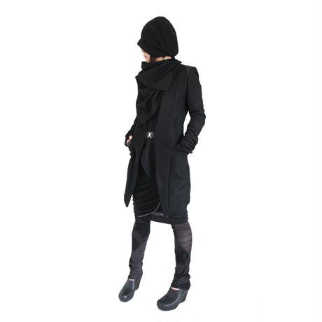 ブラックウールコート