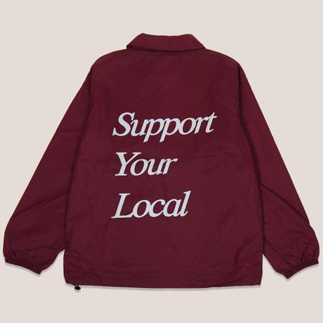 MUCH LOVE COACH JACKET -BURGUNDY-