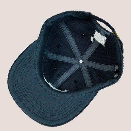 S.Y.L. CORDUROY CAP -NAVY/WHITE-