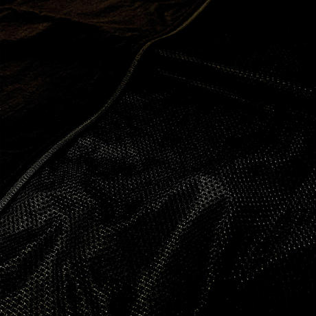 NYLON LOGO JACKET -BLACK-