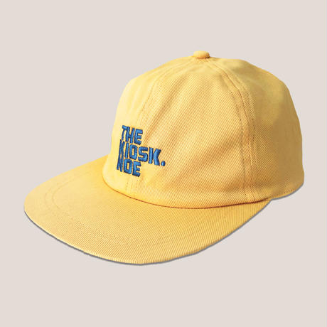 LOGO 6PANNEL CAP -EGG YELLOW/BLUE-