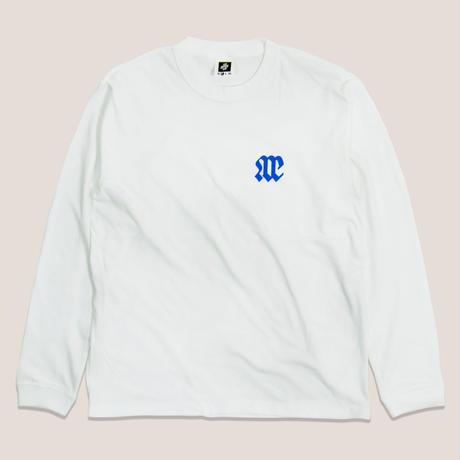 NOE TEAM LOGO LS TEE -WHITE/JR BLUE-