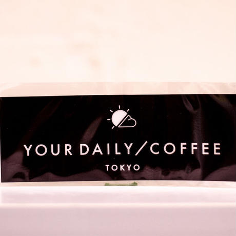 YOUR DAILY COFFEE ロゴステッカー ブラック