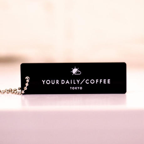 YOUR DAILY COFFEE オリジナルキーホルダー ブラック