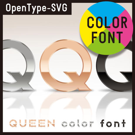 QUEEN color font(クィーン カラーフォント)