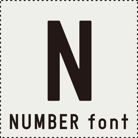 NUMBER font(ナンバー フォント)