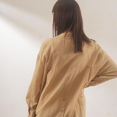 back button long shirt one-piece