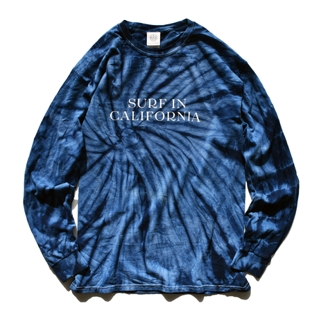 SURF IN CALIFORNIA Tie Dye  Long Sleeve Tee【Tie Dye Navy】