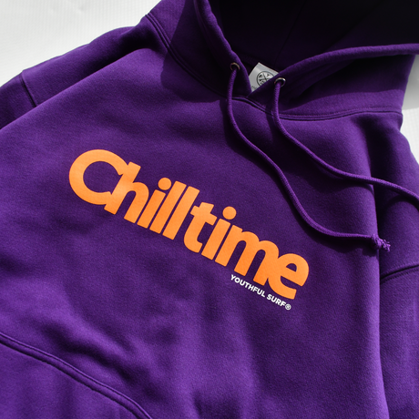 Chill time hooded sweatshirt【Purple】
