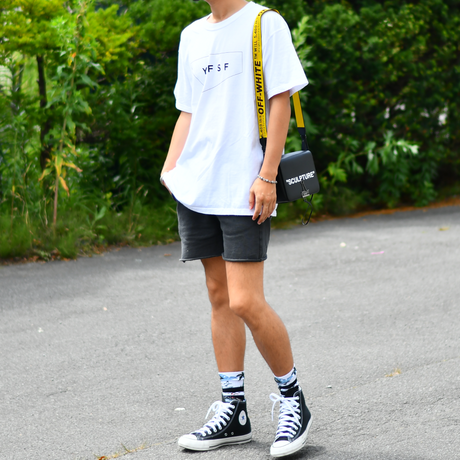 STANDARD Logo Pigment Dyed Tee【White】