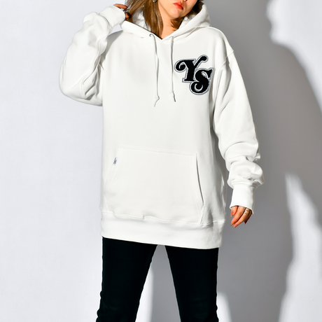 YS Logo Heavy weight Hooded Sweatshirt / Off White