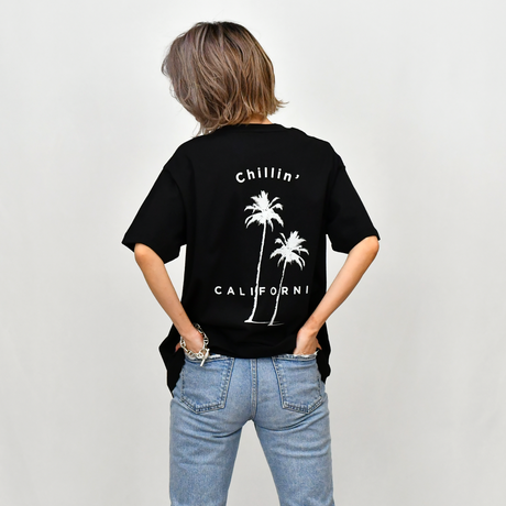 Chillin' california Organic cotton Tee / Black