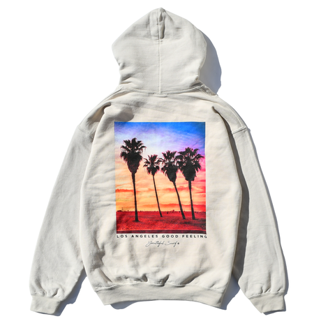 L.A photo graphic  Hooded Sweatshirt / Sand