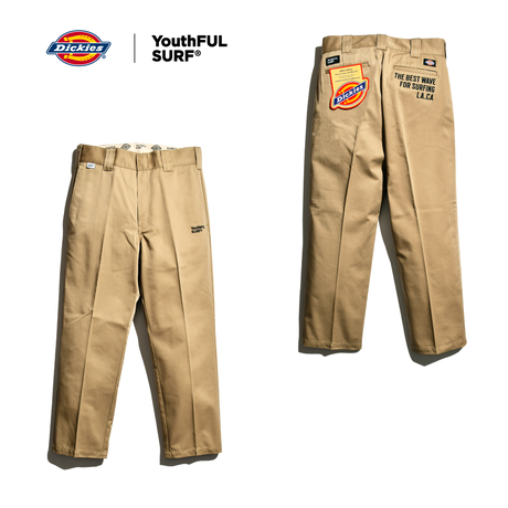 Dickies®×YouthFUL SURF® Collaboration Work Pants / Army Chino