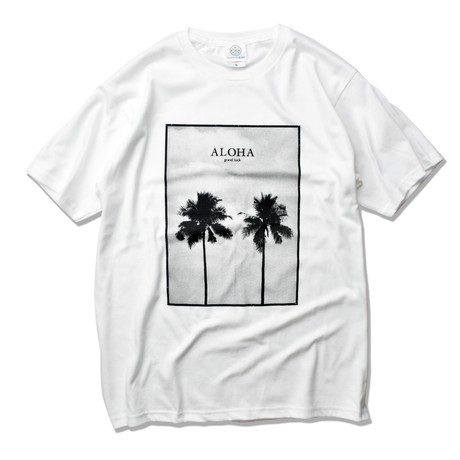 ALOHA good luck Photo  Tee  【White】