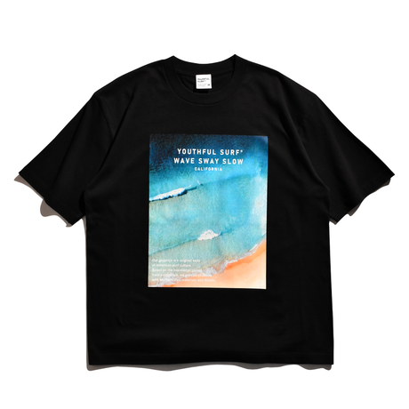 WAVE Photo Graphic Relax Fit Tee / Black
