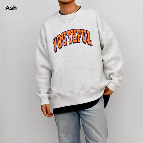 【予約商品】College Logo Relax Fit Crew Neck Sweatshirt