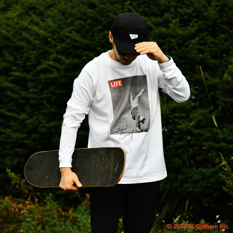 YouthFUL SURF × LIFE Long Sleeve Tee【White】
