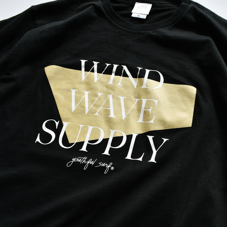 WIND WAVE SUPPLY Tee  【Black】
