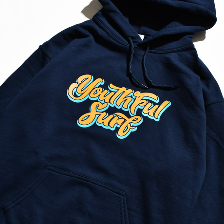 Shadow Logo  Hooded Sweatshirt / Navy