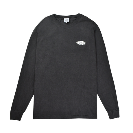 Foaming Logo Pigment Dyed Long Sleeve Tee / Pepper