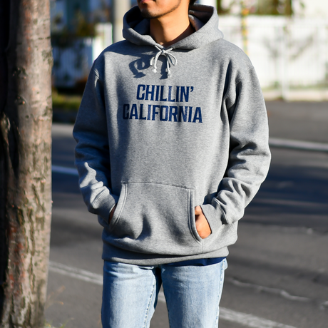 Chillin' california hooded sweatshirts【Gray】