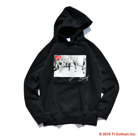 【予約商品】YouthFUL SURF × LIFE hooded sweatshirt【Black】