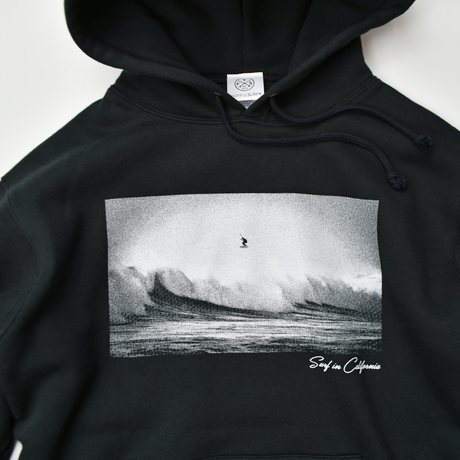 SURF IN CALIFORNIA Photo hooded sweatshirt【Black】