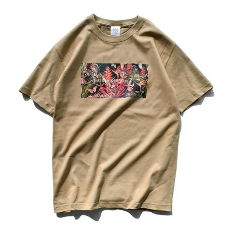ALOHA GOOD LUCK Botanical Box Logo Tee【Sand Khaki】