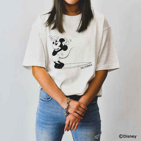 【予約商品】THE BEST WAVE FOR SURFING TEE - MICKEY MOUSE - /  White