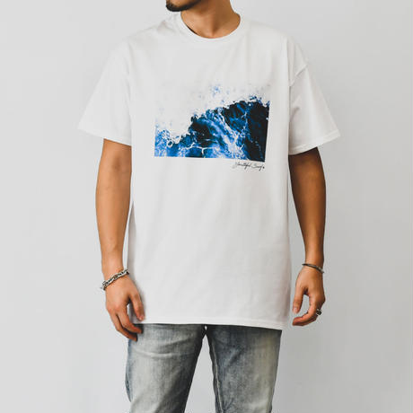 WAVE photo graphic Tee / White